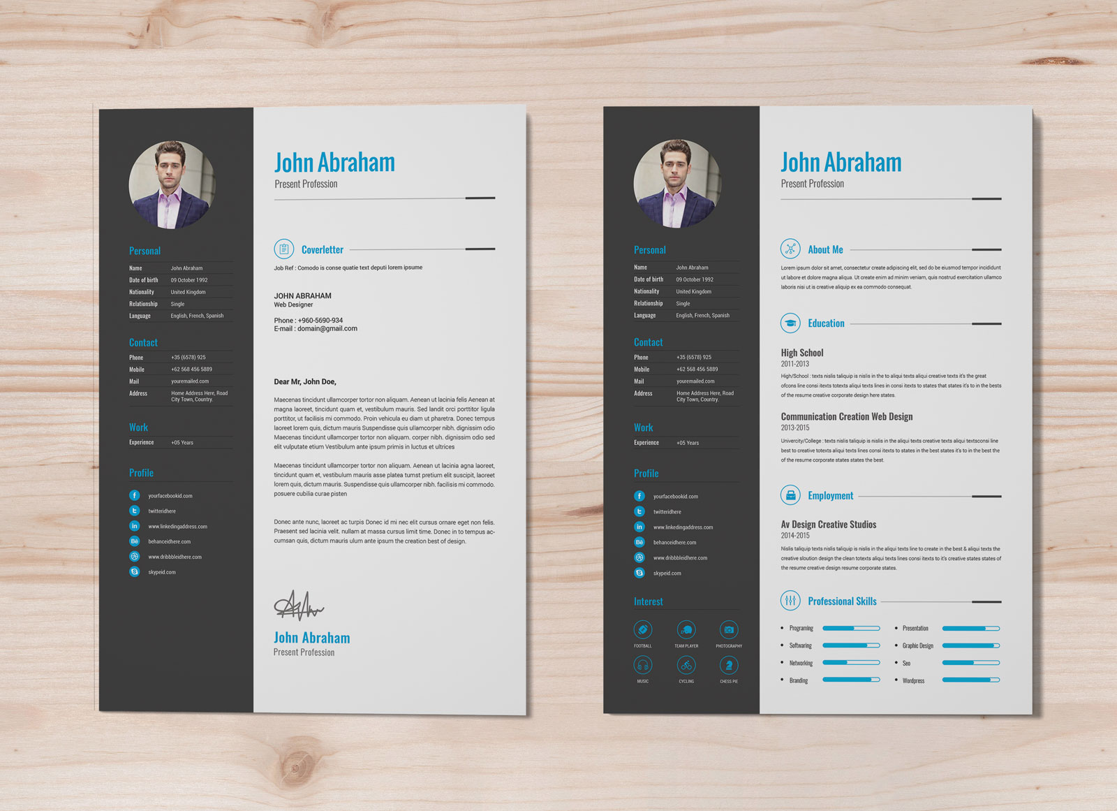 Indesign Resume Template Free Professional Resume Template Cover Design In Indd Psd Ai Word Docx 1 indesign resume template|wikiresume.com