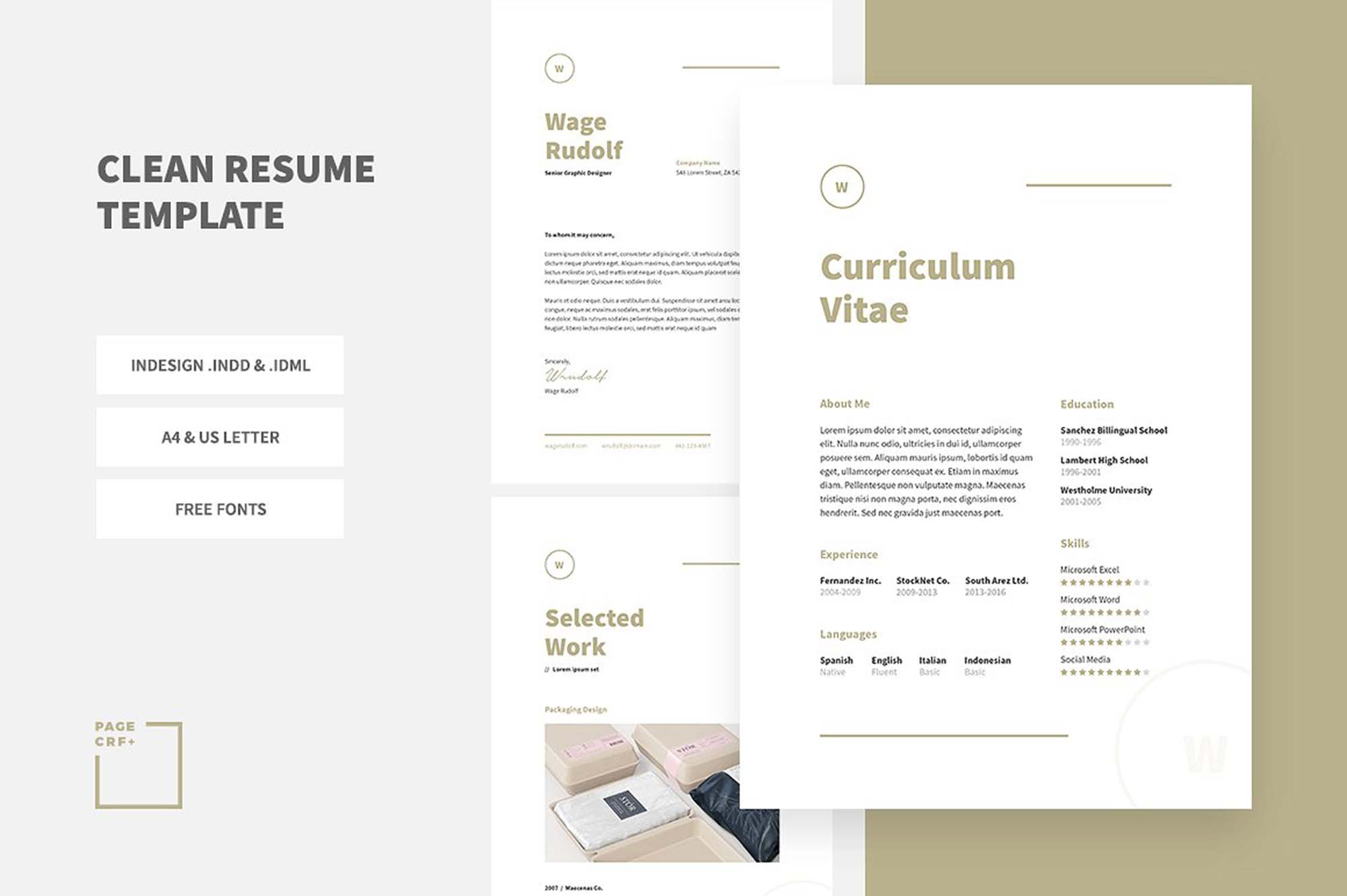 Indesign Resume Template Resume Template indesign resume template|wikiresume.com