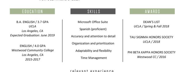 Job Resume Examples College Resume Example Template job resume examples|wikiresume.com