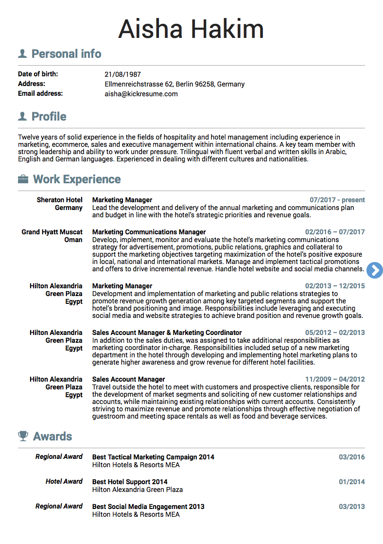Marketing Resume Examples  10 Real Marketing Resume Examples That Got People Hired At Nike