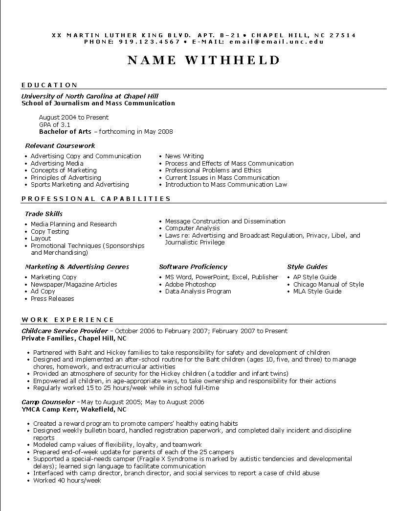 Marketing Resume Examples  Advertising Resume Example Sample Marketing Resumes