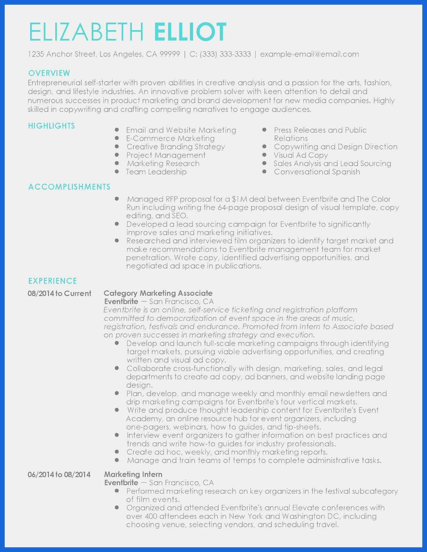 Marketing Resume Examples  Sales Proposal Example Best Of Marketing Resume Examples Awesome