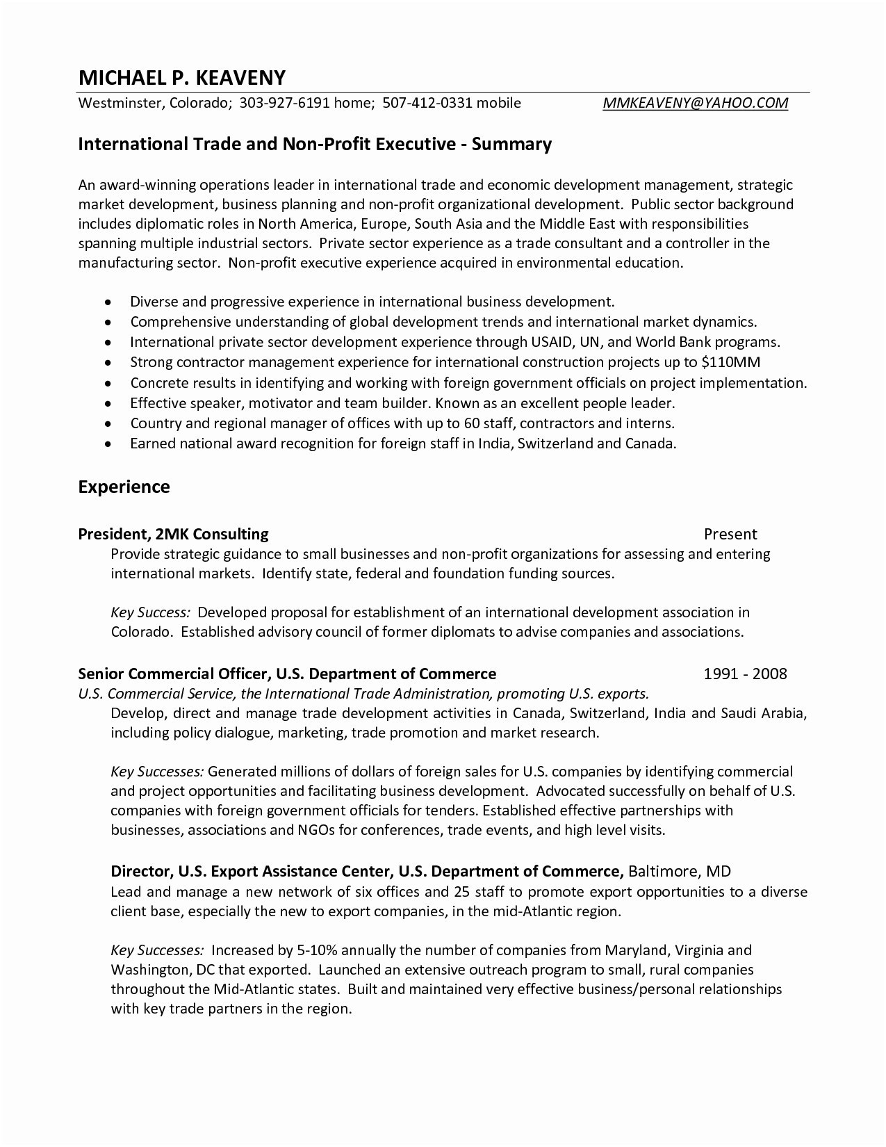 Marketing Resume Examples  Sample Resume For Vice President Sales And Marketing Valid Sales