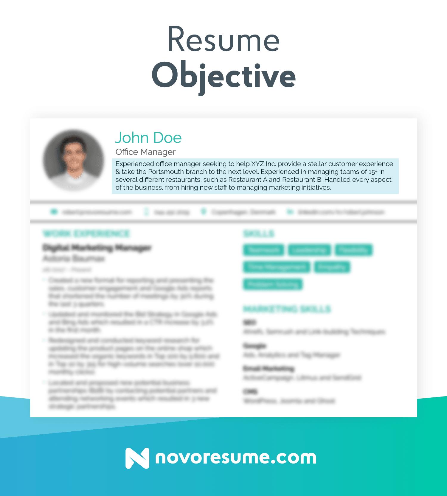 Objective On A Resume Resume Objective objective on a resume|wikiresume.com