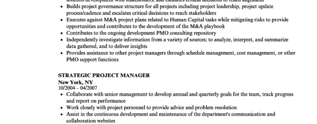 Project Manager Resume Strategic Project Manager Resume Sample project manager resume|wikiresume.com