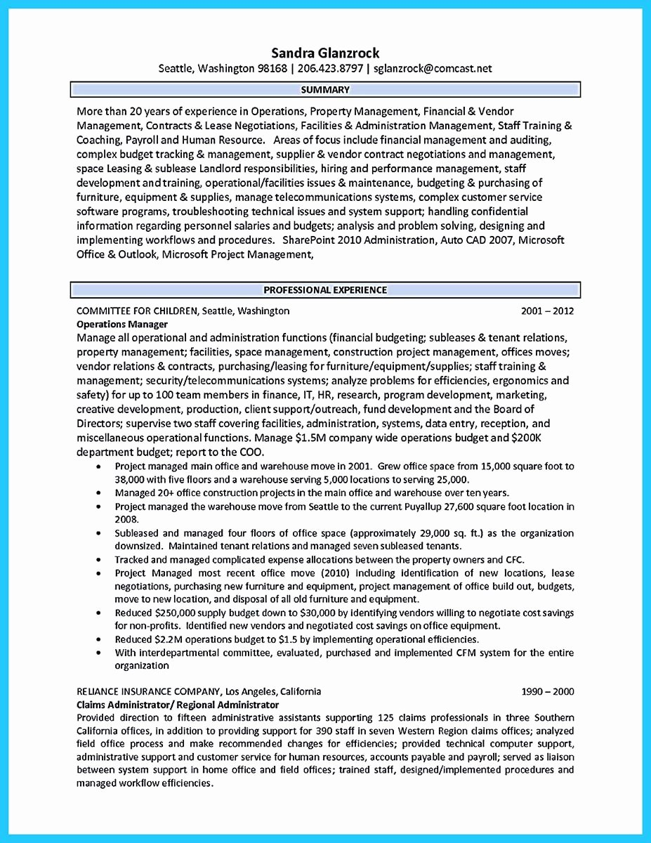 Property Manager Resume Writing A Great Assistant Property Manager Resume Latter Example
