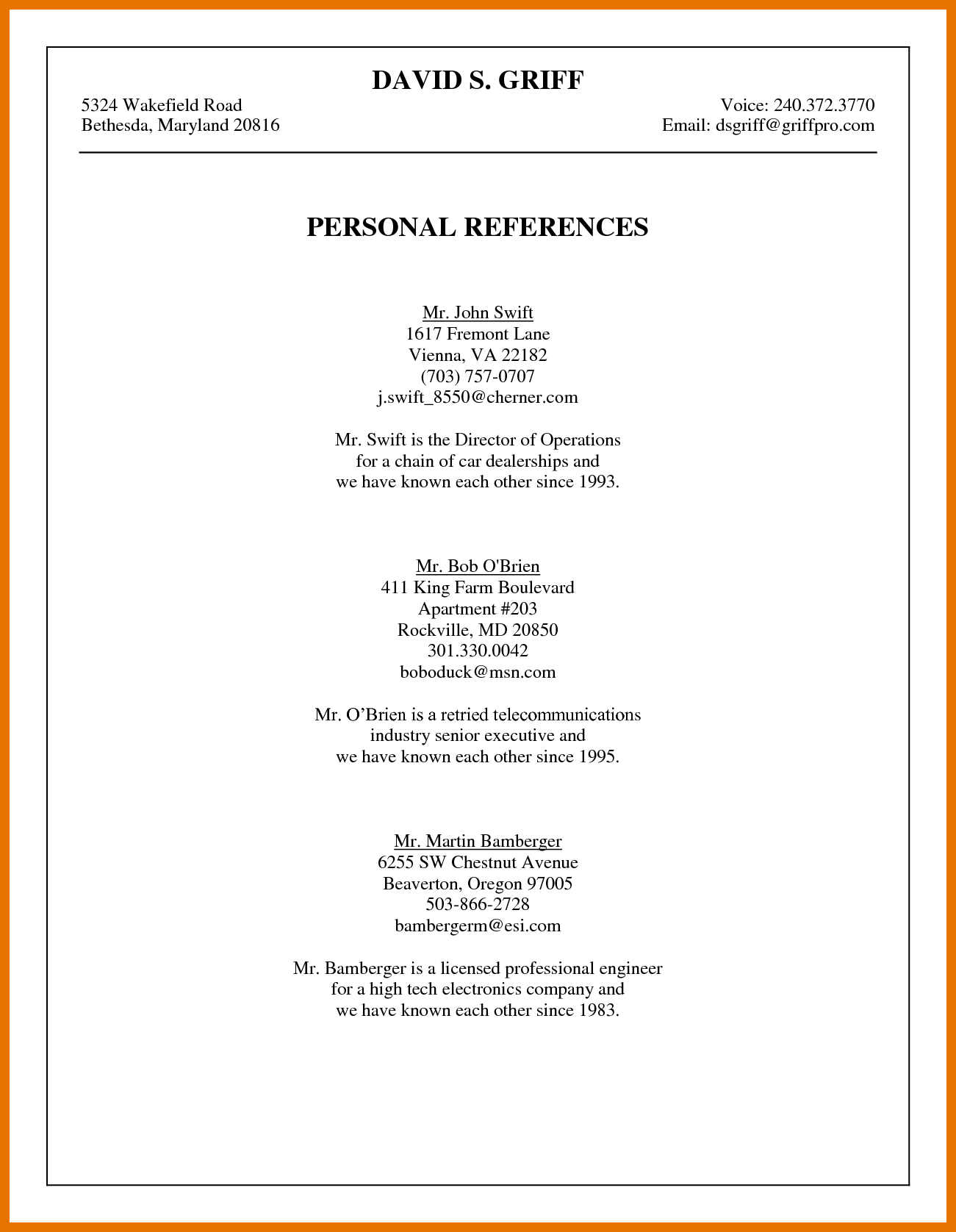 References For Resume 9 10 How To List A Reference On Resume Juliasrestaurantnj