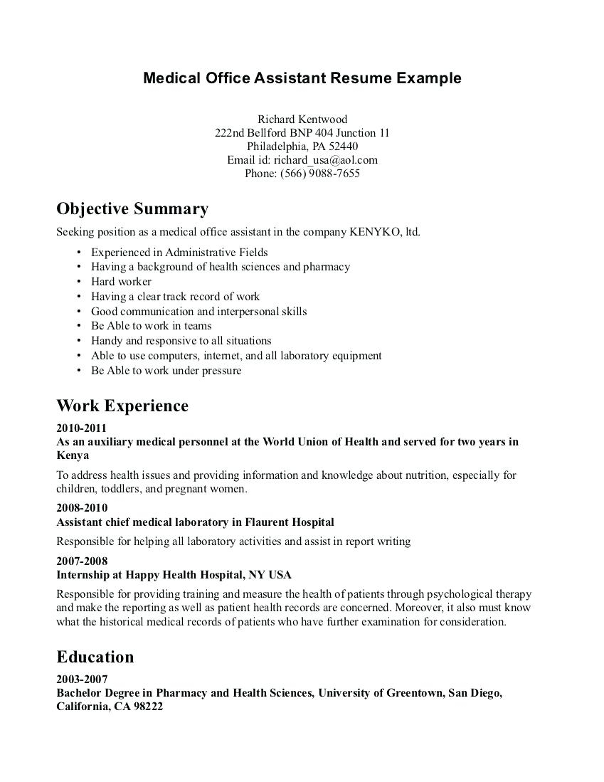 Resume Examples Office  Office Assistant Resume Examples Kinalico