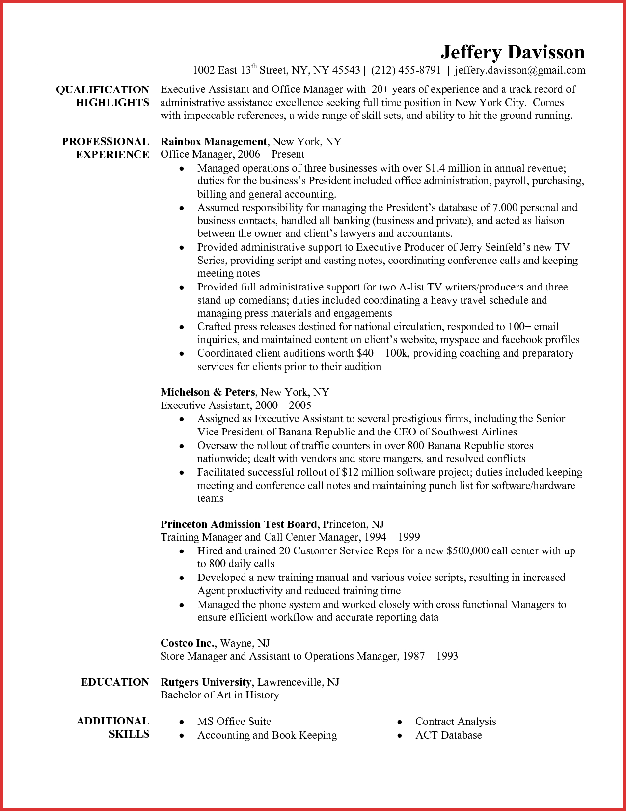 Resume Examples Office  Operations Admin Resume Samples Velvet Jobs Image Examples Office