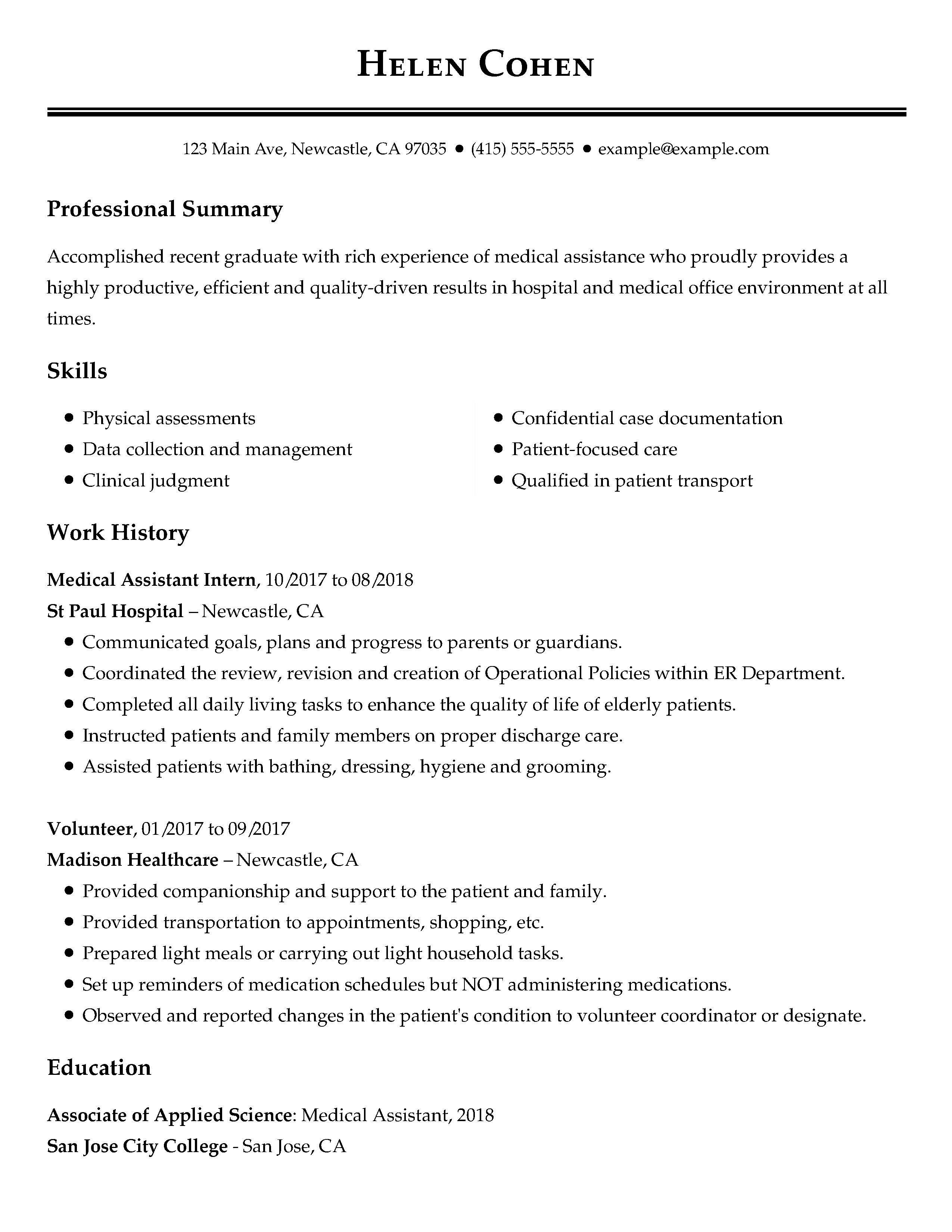 Resume Examples Office  View 30 Samples Of Resumes Industry Experience Level
