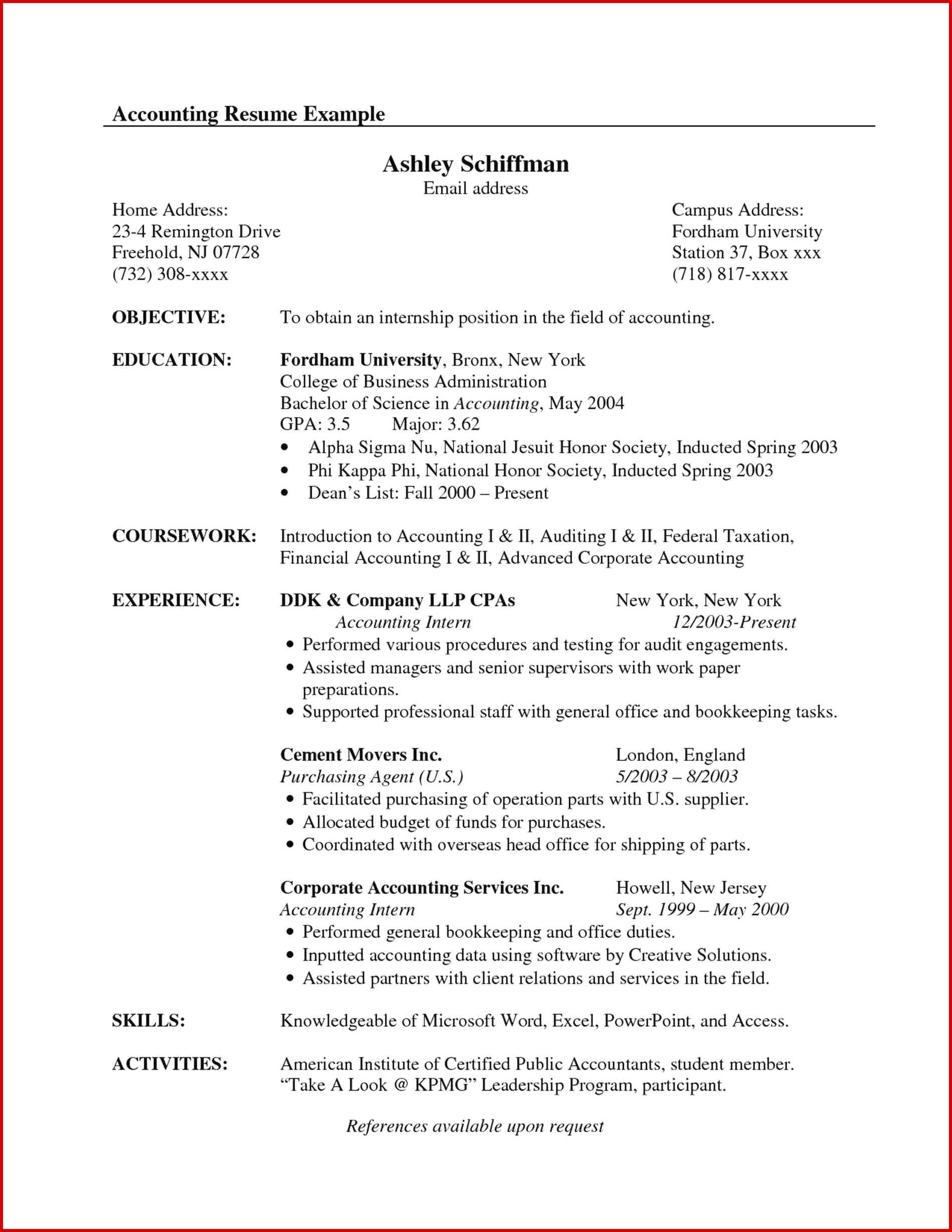 Resume Objective Example Accounting Certifications Best Of Objective Resume Samples Career 20 Accountant resume objective example wikiresume.com
