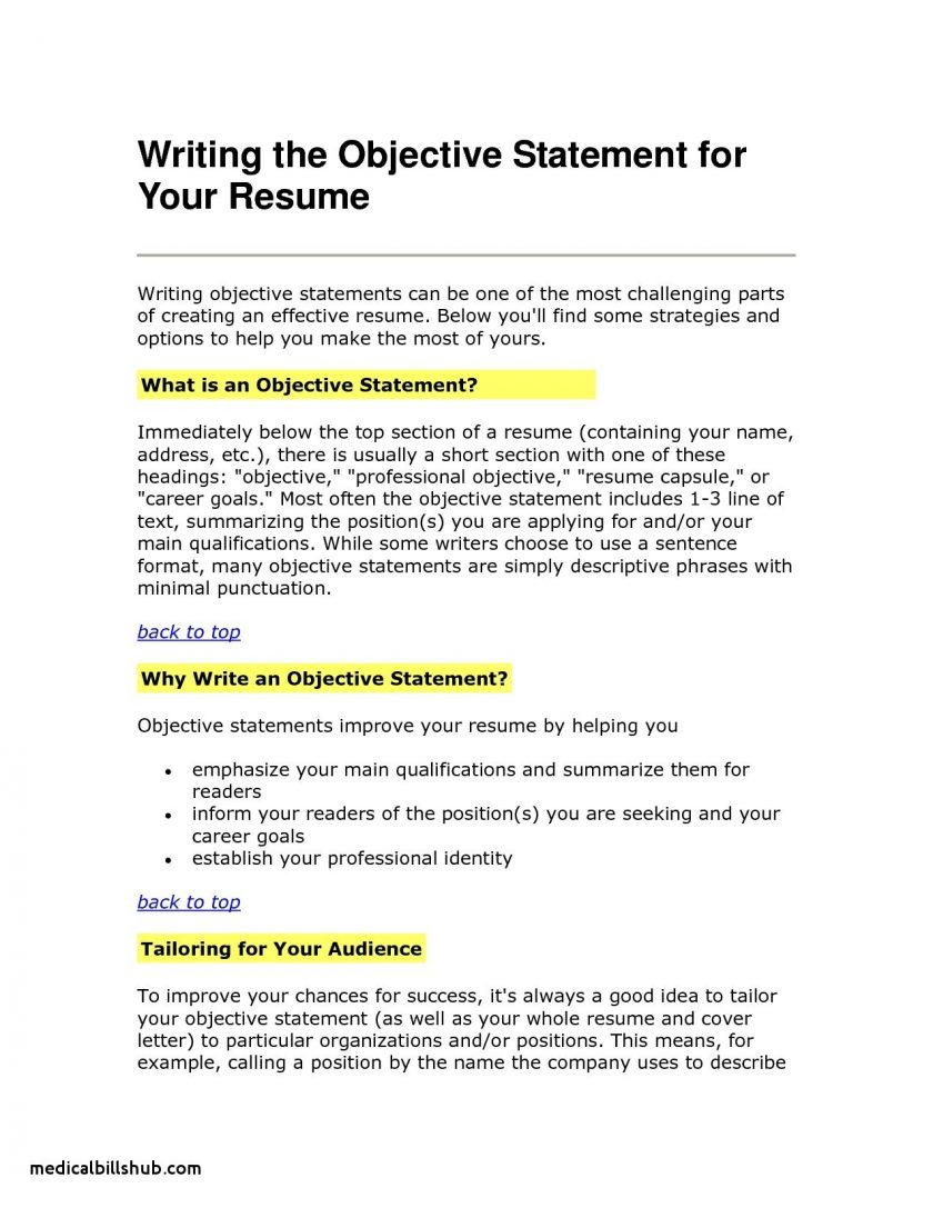 Resume Objective Example Customer Service Goals Objectives Examples Resume Objective Statement Awesome Resumes On For Smart And resume objective example|wikiresume.com