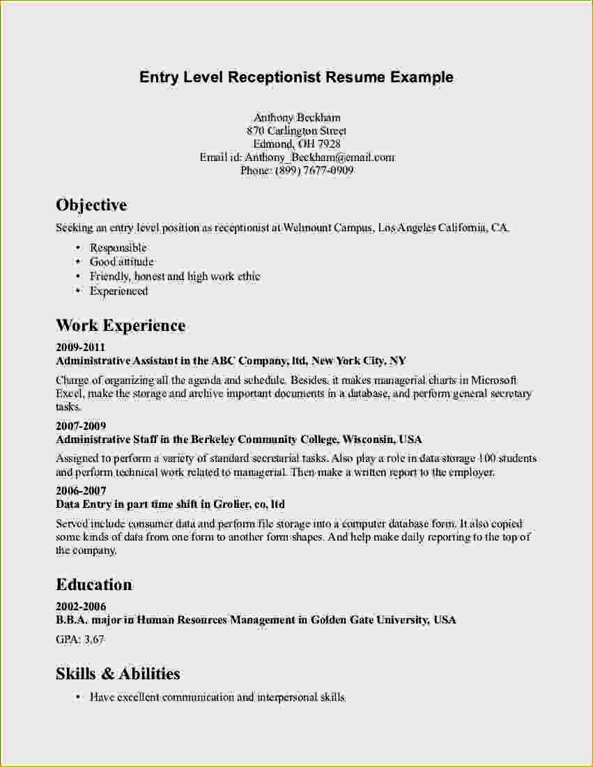 Resume Objective Example Entry Level Job Resume Objective Examples resume objective example wikiresume.com
