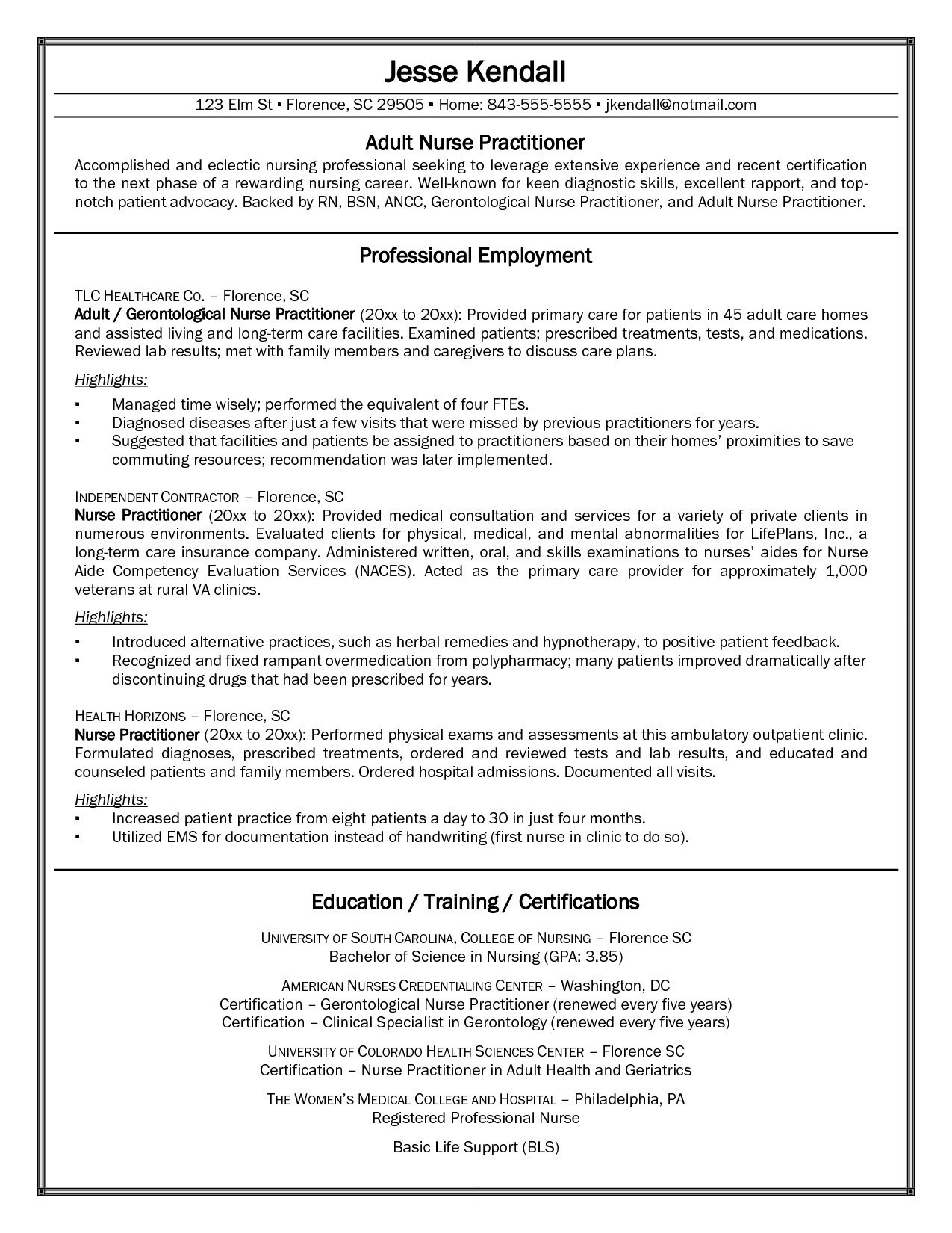 Resume Objective Examples  Sample Nurse Practitioner Resume Best Of Chef Resume Objective