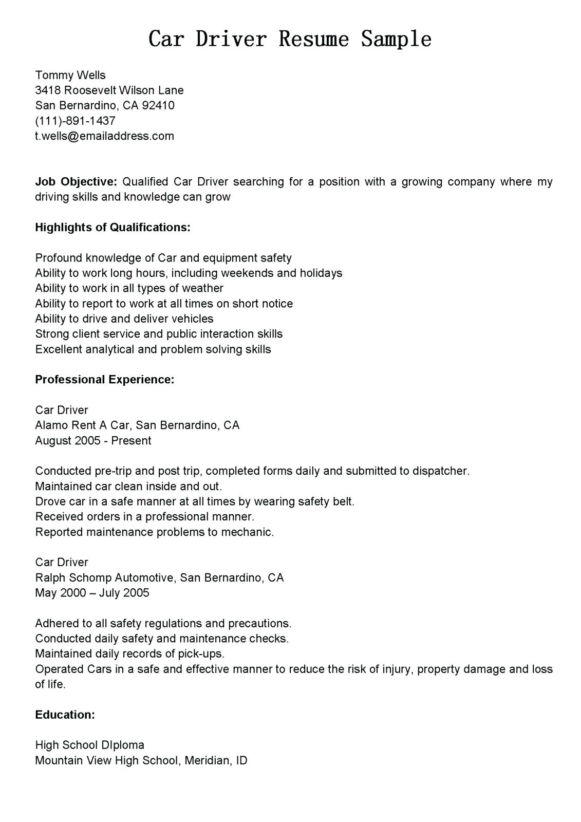 Resume Objective Examples  Truck Driver Resume Objective Statement Objectives Examples Samples