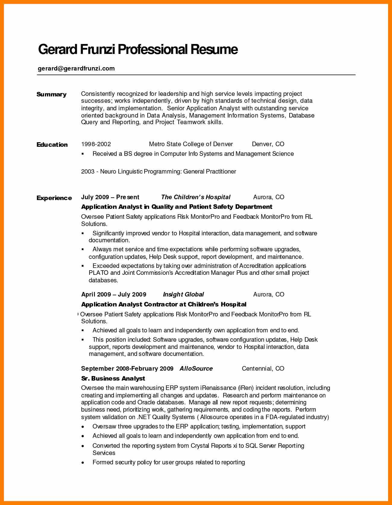 A Guidance To Write Good Resume Summary Statement