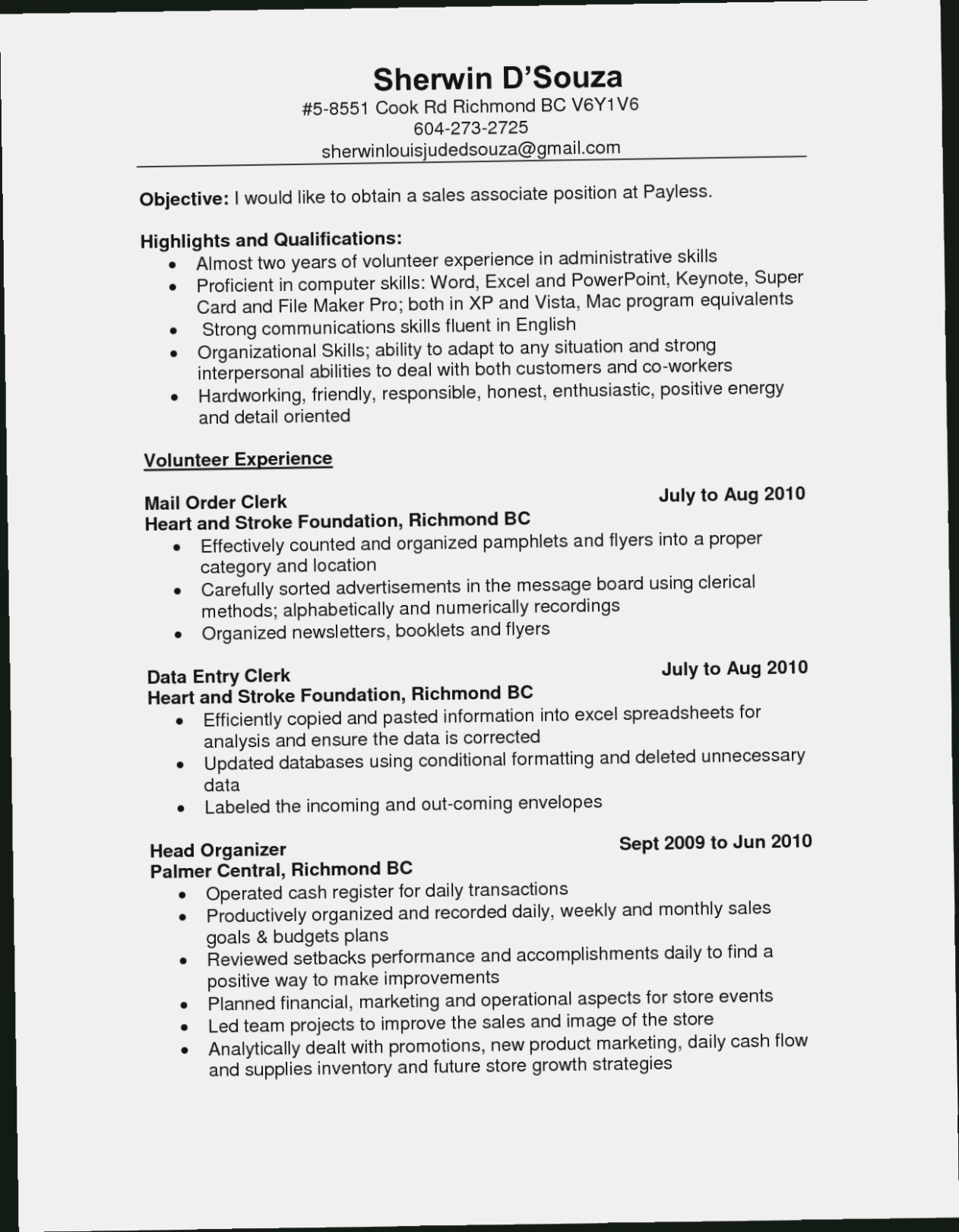 Sales Associate Resume  Now Is The Time For You To Know The Truth Resume Information
