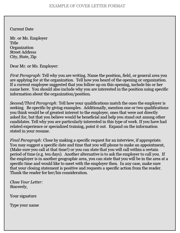 Sample Cover Letter For Resume Cdo Cover Letter Format sample cover letter for resume|wikiresume.com