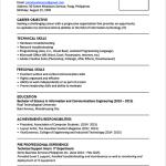 Sample Objective For Resume Sample Resume Format For Fresh Graduates Single Page 13 sample objective for resume wikiresume.com