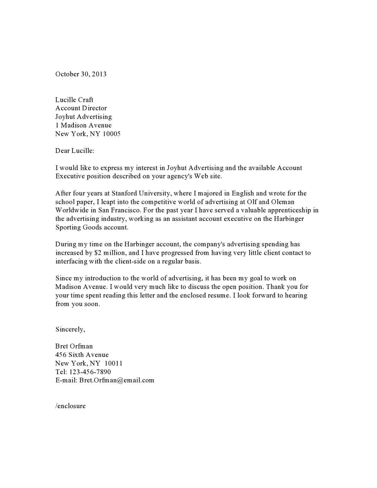 Samples Of Cover Letter  Cover Letter Samples Templates Examples Vault