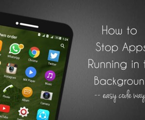 Stop Apps From Running In The Background On Android