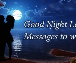 Best 60+ Love Good Night Messages for Wife