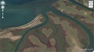 Heart-Shaped Land Formation