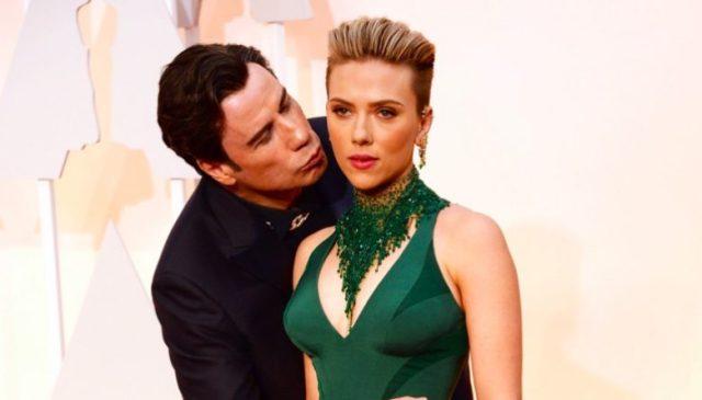 Travolta replied the buttocks