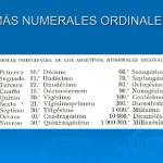 Los Pronombres ordinales u ordinarios