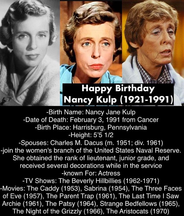 Nancy Kulp death