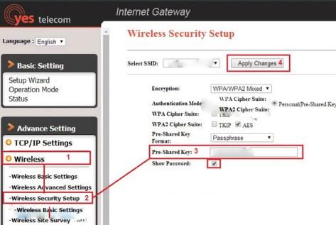 Đổi mật khẩu Wifi VNPT đối với Yes Telecom