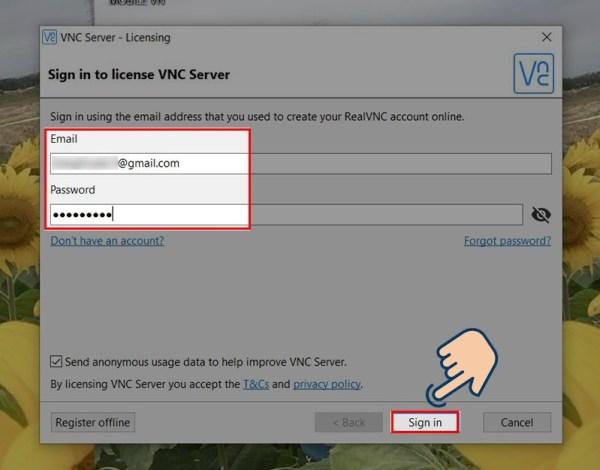 Hướng dẫn sử dụng VNC viewer