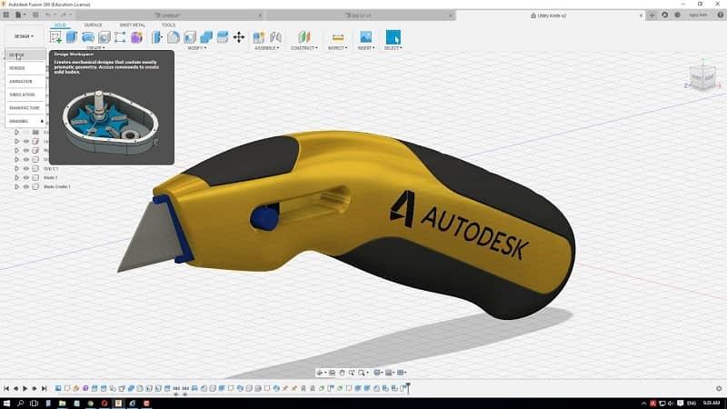 Phần mềm vẽ 3D cơ khí