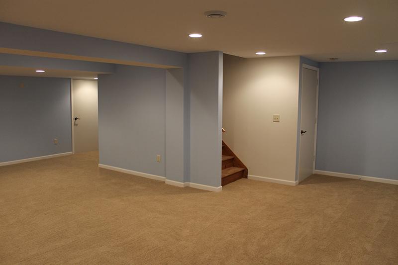 Basement remodeling Bedroom Bathroom and Walkin Closets