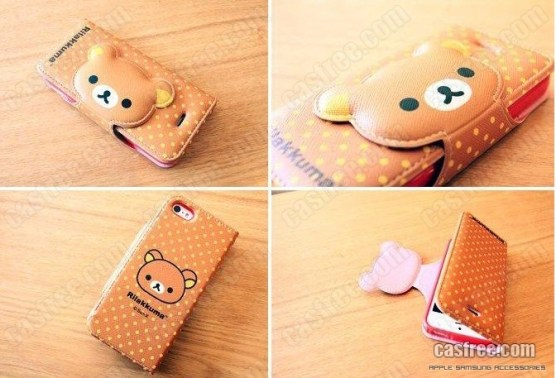 Rilakkuma-leather-case-for-iphone-5-brown-02