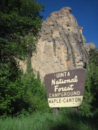 Maple Canyon Entrance