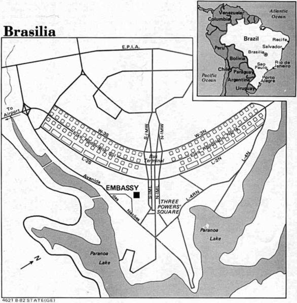 Mapa de Brasilia