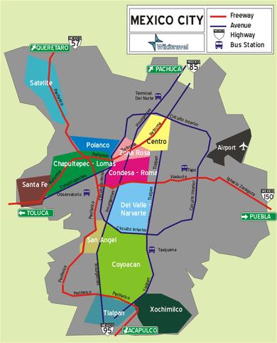 「mexico city area map」の画像検索結果