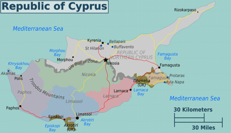File:Greek Cyprus regions map.png