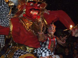 ogoh ogoh fest in Bali before nyepi