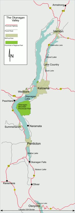 Vernon British Columbia Map