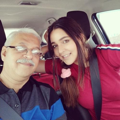 Mansi with father Amulya Srivastava