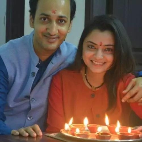 Neha Pant (News Anchor) with husband