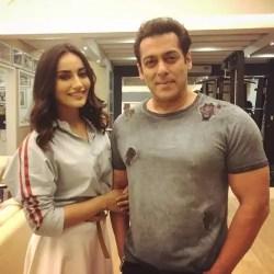 Surbhi Jyoti with Salman Khan