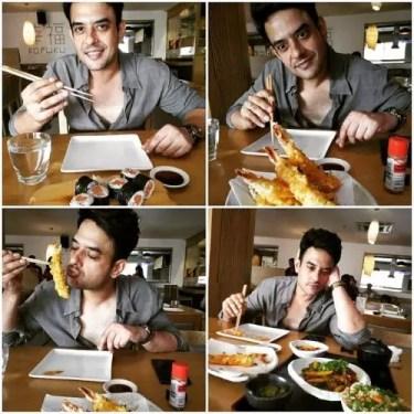 Hasan Eating Non Veg