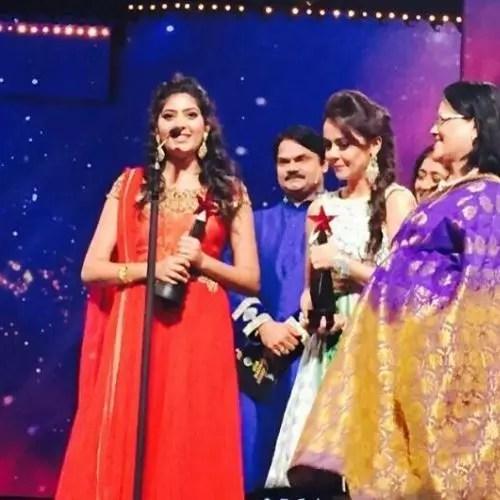 Rajshri with star pariwar award