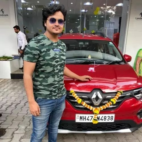 Mohit Sinha with car