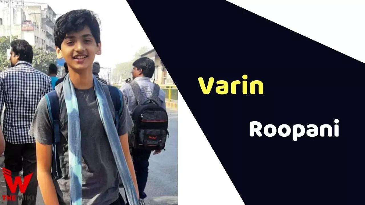 Varin Roopani (Child Artist)