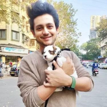 Adish Vaidya With Dog