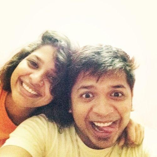 Pratibha Singh with brother